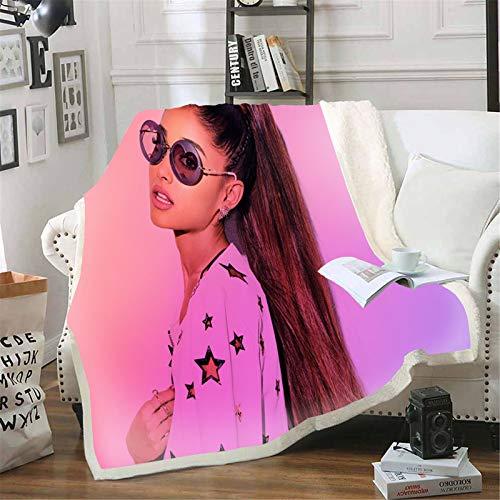Goplnma - Coperta Ariana Grande, stampa 3D, coperta Ariana Grande per il divano, per adulti e bambini (100 x 140,1)