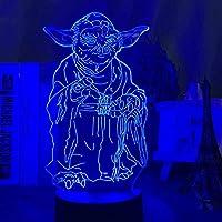 3DイリュージョンランプLEDナイトライトスターウォーズマスターヨーダフィギュアホームデコレーションクールなクリスマスギフトボーイフレンドキッドボーイチルドレンスリープランプ
