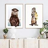 GBVC Leinwand Malerei Tierkunst Otter Poster und Drucke