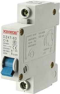 uxcell 1 Pole 16A 230/400V Low-voltage Miniature Circuit Breaker Din Rail Mount DZ47-63 C16