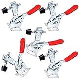 Huaxiangoh Schnellspanner 5 Stück Metall Horizontal Toggle Clamp Handwerkszeug 90KG 198lbs...