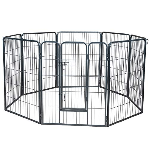 Oxgord Heavy Duty Portable Metal Exercise Dog Playpen