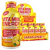 (12 Pack) Vitamin Energy Shots  Energy Lasts up to 7+ Hours*, Supports Immune Health*, Great Tasting Tango Orange, Keto Friendly 0 Sugar / 0 Carbs