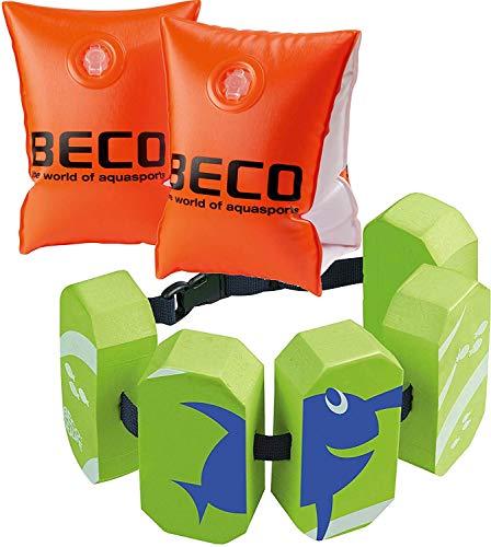 Beco 09703 Schwimmhilfen Doppelkammersystem, Körpergewicht (1, Größe 0 + Gürtel grün)