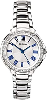 Ladies Classic Stainless Steel Silver Coloured Bracelet Watch 2777