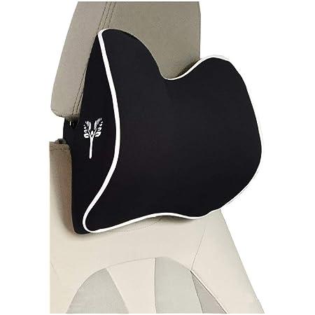 Grin Health Large Headrest Cushion Neckrest Support Ergonomic Neck Pillow for Car, Office (L Curve), Black