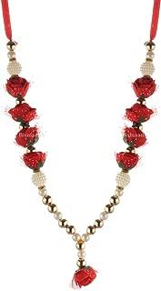 BISMAADH Pearl and Beads Handmade Garland/Mala for God Idols, Photo Frames