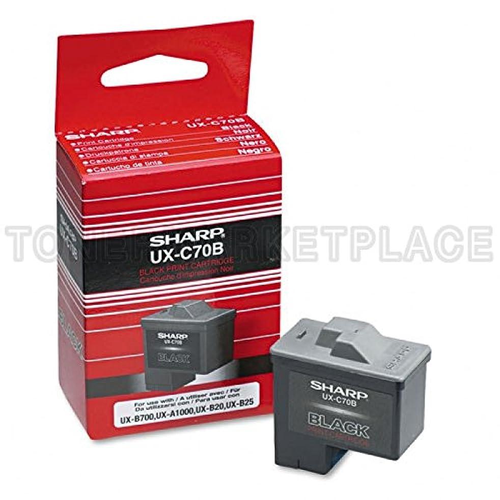 Sharp Genuine Brand Name, OEM UXC70B (UX-C70B) Black Inkjet Cartridge (500 YLD)