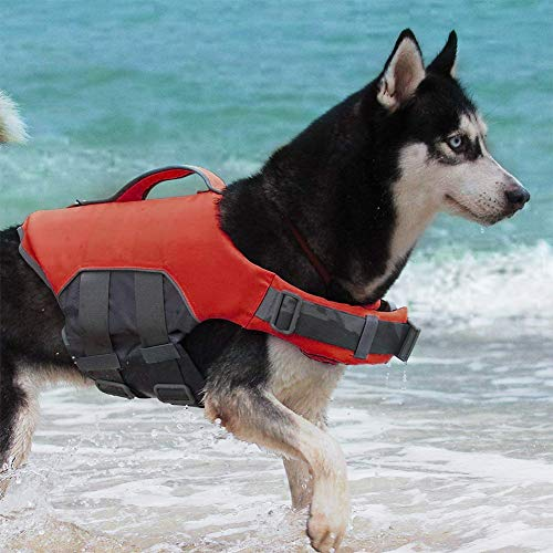 ThinkPet Dog Life Jacket Reflective Lifesaver Floating Vest Adjustable