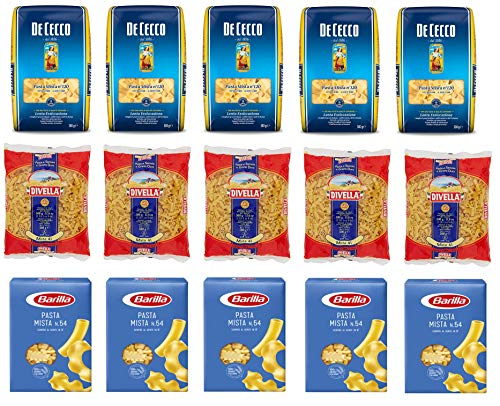 Testpaket Pasta Mista Barilla Divella De Cecco Italienische Kurze Pasta ( 15 x 500g ) Nudeln gemischte pasta