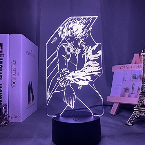 Luces de Anime 3d Led,Lámpara Acrílica 3d Anime My Hero Academia Dabi Luz Led Para Decoración de Dormitorio Regalo Manga Fresca Para él Luz Nocturna Colorida Rgb