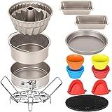 Esjay Cake Baking Pan Set for Ninja Foodi 6.5, 8Qt, Instant Pot 6, 8Qt, Air Fryer Accessories