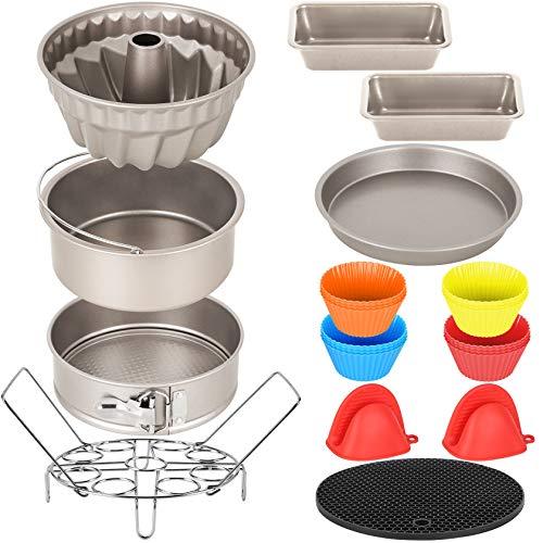 Esjay Kuchenformen-Set für Instant Pot 6, 8Qt, Ninja Foodi 6,5, 8Qt, Air Fryer Zubehör
