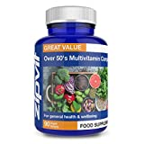 Over 50's Multi Vitamin Active Formula, 90 Tablets. 3 Months Supply. Vegetarian Society Approved. Aids General Health and Wellbeing.