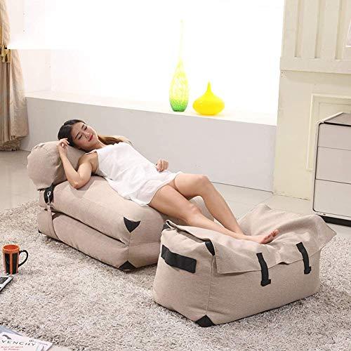NBVCX Mechanische Teile Gemütlicher Sack Sitzsack Stuhl Schaumgefüllte Schutzfolie Plus Abnehmbares maschinenwaschbares Sofa und riesige Liegemöbel für Kinder, Jugendliche und Erwachsene Premium