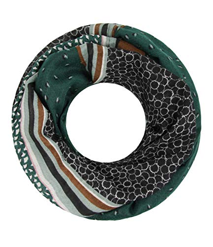 Majea Loop Schal Damen Schlauchschal - viele Farben - modischer Loopschal - Halstücher (petrol 10)