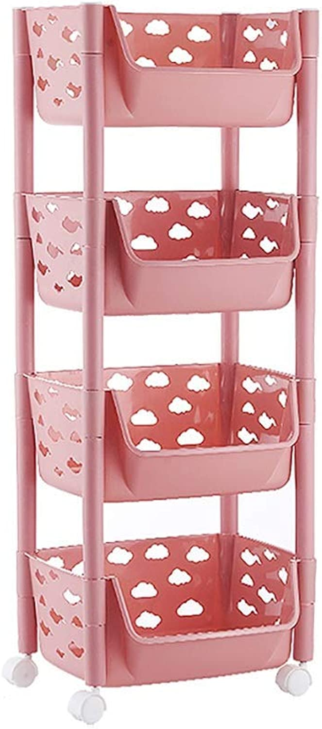 Shelves Kitchen Trolley with Wheel Beauty Salon Cart Storage, 4 Tier Detachable Catering Trolley Serving Trolley Clearing Trolley Kitchen Cart