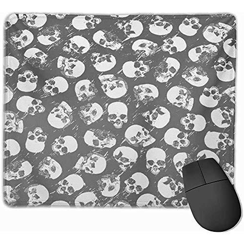 Gaming Mouse Pad, Schreibtisch Mousepad, Mausmatte Brown Doodle mit Schädeln Heraldic Medallion Bandit Blank Bone Copyspace Crime