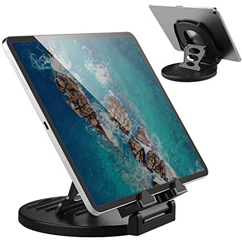 AboveTEK Tablet-Ständer, 360° drehbar, kommerzieller iPad-Ständer, Schwenk-Design für Geschäfte, Einzelhandel, Büro, Nachttisch, Vitrine, Empfang, Küche, Zuhause