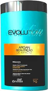 Evolution Argan Bionutrição de Impacto Máscara, 1 Kg, Griffus Cosméticos, Multicor