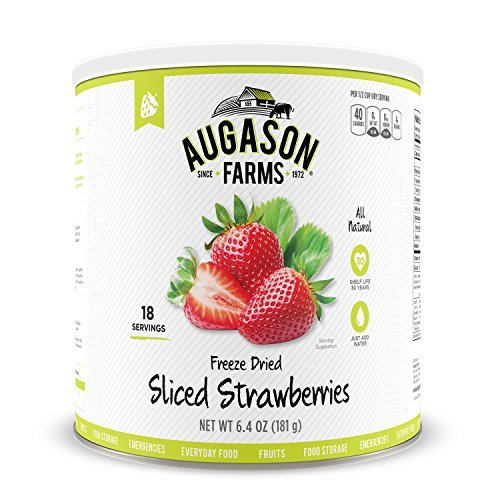 Augason Farms Sliced Strawberries Emergency Food Storage #10 Can by Augason...