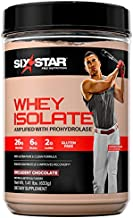 Whey Protein Isolate | Six Star 100% Whey Isolate Protein Powder | Whey Protein Powder for Muscle Gain | Post Workout Muscle Recovery + Muscle Builder | Chocolate Protein Powder (20 Servings)
