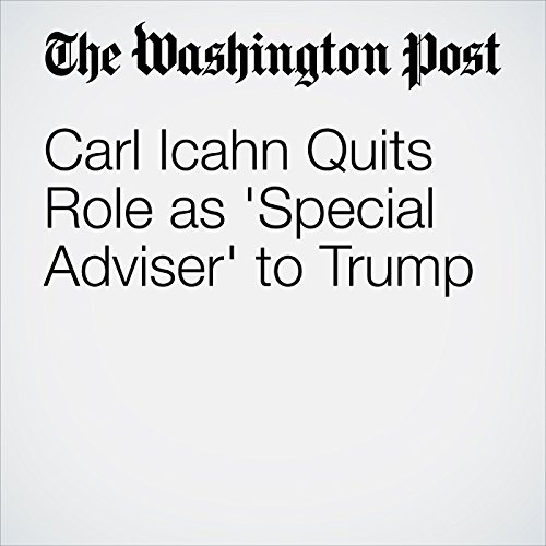 Carl Icahn Quits Role as 'Special Adviser' to Trump copertina