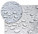 BEAUTEX Transparente Tischfolie - Hochwertige Tischdecke pflegeleicht und abwischbar - Geprüfte Tischschutzfolie - Protection Table Cloth - Größe wählbar, eckig 110 x 180 cm