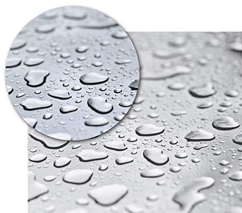 BEAUTEX Transparente Tischfolie - Hochwertige Tischdecke pflegeleicht und abwischbar - Geprüfte Tischschutzfolie - Protection Table Cloth - Größe wählbar, eckig 140 x 140 cm