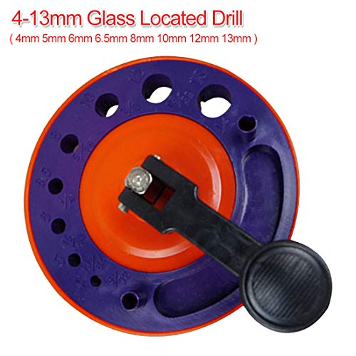 4mm-13mm Adjustable Diamond Drill Bit Tile Glass Hole Saw Core Bit Guide With Vacuum Base Sucker Tile Glass Opening Locator