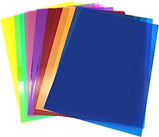 D-Orange 14 stuks gel kleurfilters vierkant doorzichtige filterset kleurcorrectie 11,7 x 8,3 inch voor fotostudio-flits, l...