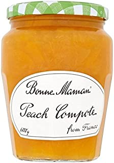 Bonne Maman Peach Compote 600g - Pack of 6