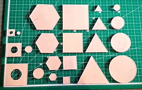 LaserThing Itajime Shibori Templates - 44 Piece Set - Square, Circle, Hexagon, and Twinkle