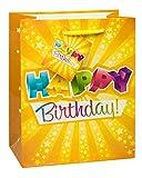 TSI 84014-1 Geschenkbeutel HAPPY BIRTHDAY, 3er Packung, Größe: Mittel (23 x 18 x 10 cm)