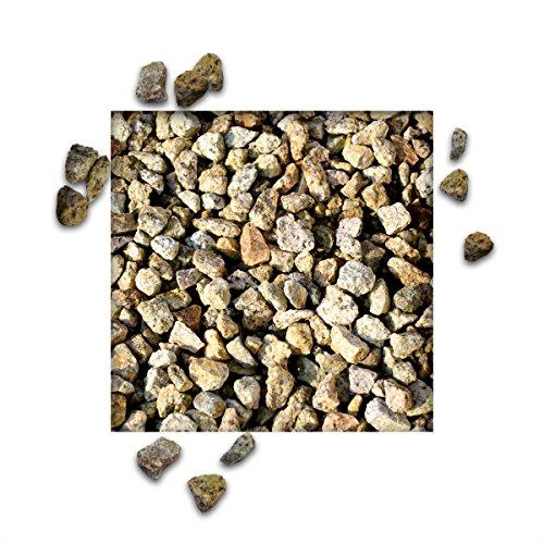 25 kg Granitsplitt Gelb Gartensplitt Ziersplitt Deko Dekoration Splitt Körnung 8/11 mm