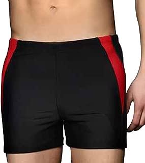 LINGMIN Men's Splice Jammer Fashion Swimsuit - PowerFLEX Swim Trunks Sport Trainning Swimwear