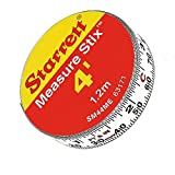 Steel White Measure Tape with Adhesive Backing (New Version)
