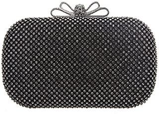 Fawziya Bow Purse For Women Box Rhinestone Crystal Clutch Evening Bags