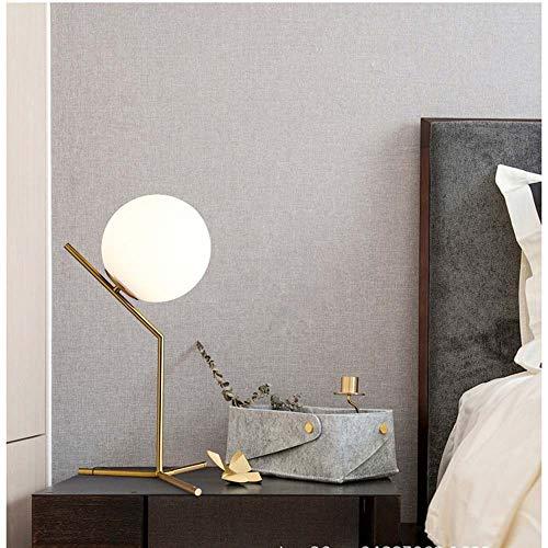 WHSS Personalidad Creativa Estilo Nórdico Sala De Estar Llena De Cobre Lámpara De Mesa Redonda Dormitorio Cabecera Simple Escritorio Moderno Iluminación del Hogar