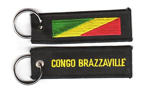 Schlüsselanhänger Kongo Brazaville Fahne Flagge NEU