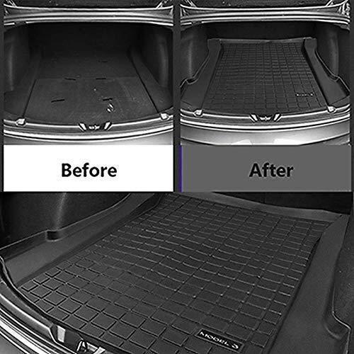 Lounayy Gummi Kofferraummatte Für Tesla Model 3 Basic Mode Gummi Kofferraumwanne Premium Antirutsch Fahrzeugspezifisch Robust Geruchlos Speziell Für Tesla Model 3 Entwickelt