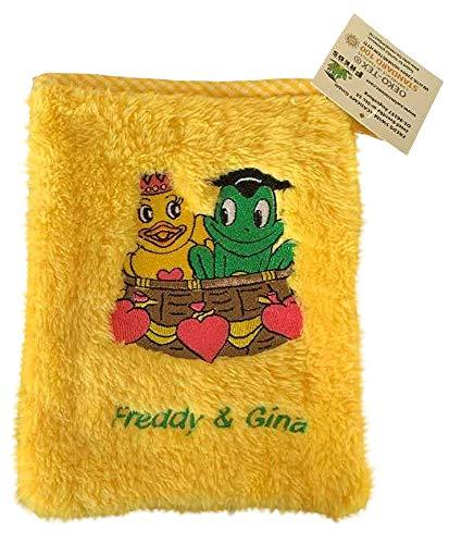 Freds Swim Academy 20122 Gant de toilette en polyester souple avec motif Fred & Gina Env. 16 x 20 cm, jaune