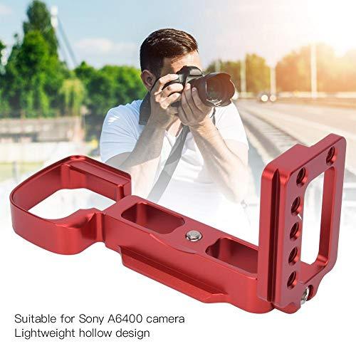 Topiky Kamera L-förmige Schnellwechselplatte, Aluminiumlegierung L-Halterung Vertikaler Platinenhalter Handgriff Adapter mit 39mm Standard AS Interface für Sony A6400 Kamera(rot)