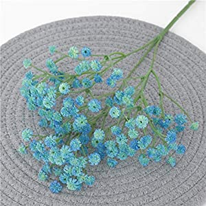 135 Mini Heads 62cm DIY Artificial Baby Breathing Flower Gypsophila Fake Silicone Plants Wedding Decor Home Arrangement,Blue