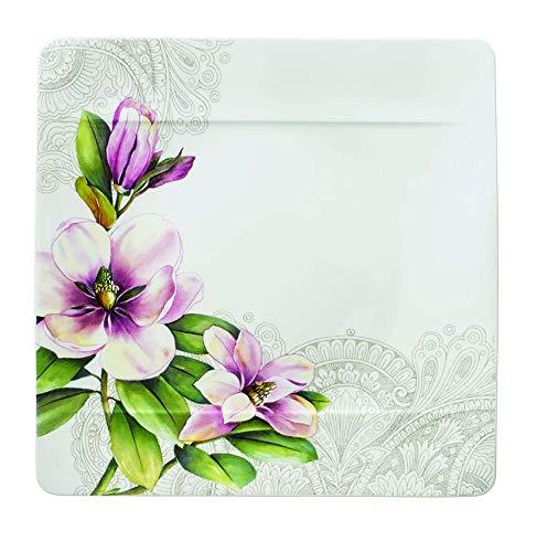 Villeroy & Boch 10-4380-2613 Assiette Plate Porcelaine Rose 29,5 x 29,5 x 8,5 cm Convient pour 1 Personne