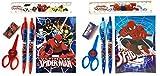 12 Marvel Spiderman Papelería Set Niños Cumpleaños Escuela Party Favors Bag Filler (Spider Man)