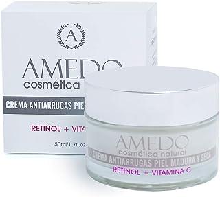 ALTAMENTE EFECTIVA - CREMA DE RETINOL MAS VITAMINA C - Crema natural. Crema antiedad hidratante para la cara cuello y con...