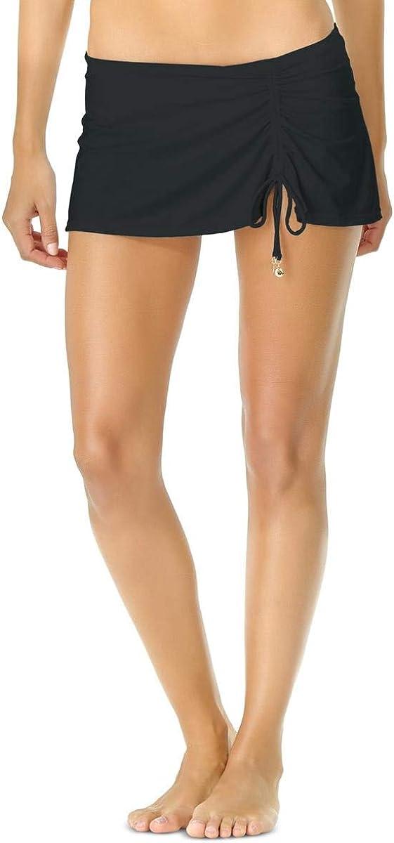 Anne Cole Women's Solid Adjustable Sarong Skirted Swim Bottom