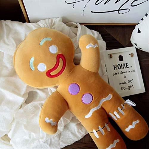 QWYU 60 cm de dibujos animados lindo de jengibre hombre juguetes de peluche colgante bebé Appease muñeca almohada reno para niños regalo 30 cm