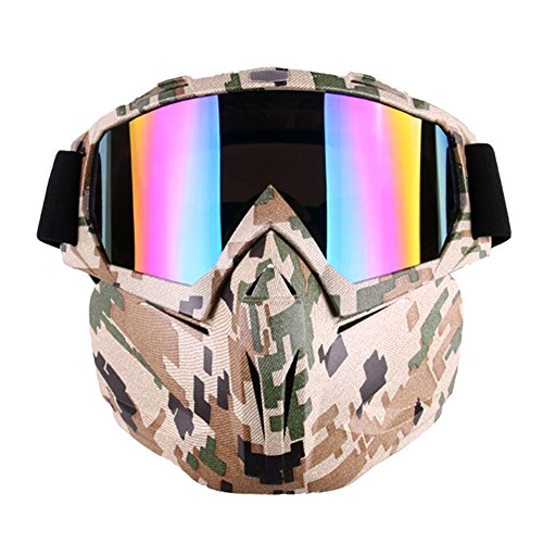 PiscatorZone Motorcycle Goggles Mask for...